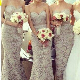 Lace Sweetheart Prom Dresses,Long P..
