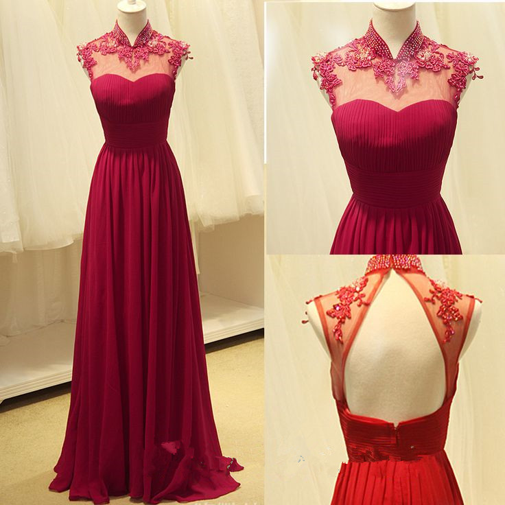 Rose Red Evening Dress