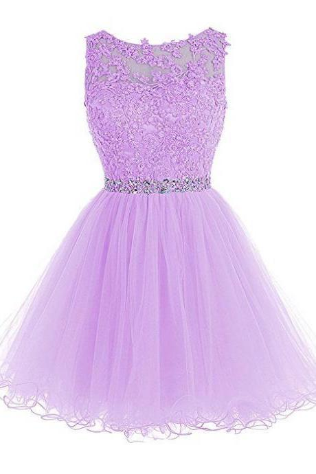 Purple Beadings Chiffon Homecoming Dress, Strapless Sexy Homecoming Dress