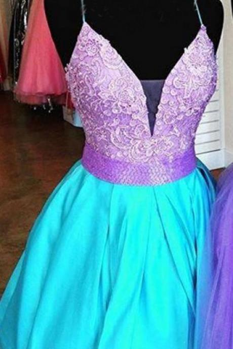 Bright Color A-line Beading Cute Homecoming Dress