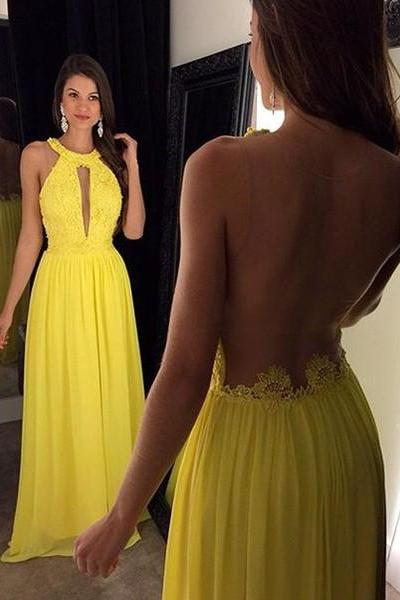 Crystal Prom Dress,V-Neck Evening Dresses, Sleeveless A-Line Dress