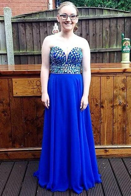 Royal Blue Sweetheart Prom Dresses,A-Line Prom Dress