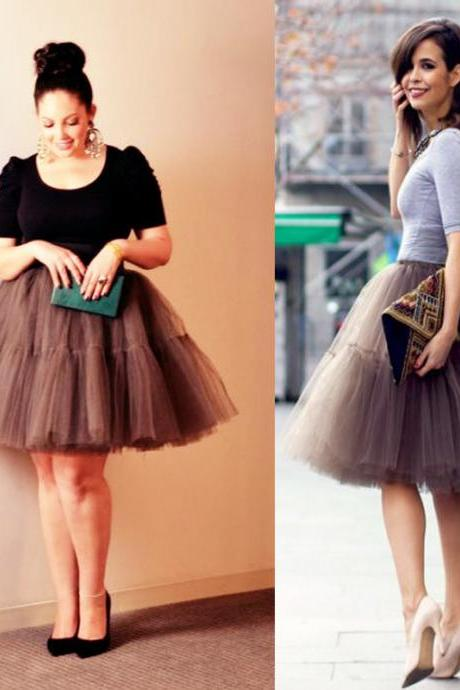 A-Line Tulle Short Mini Skirt,Lovely Sweet Short Skirt MGY1003
