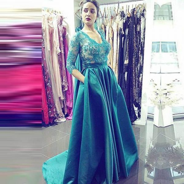 Appliques Prom Dress Elegant Formal Pageant Dresses