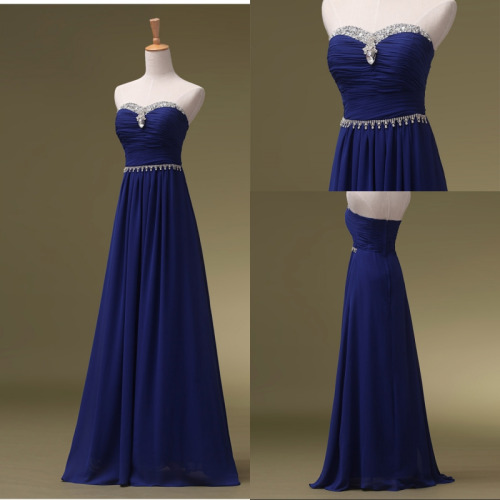 Tailor-made Prom Dresses, Blue prom dress, Long Prom dress 2016, Online Prom Dress