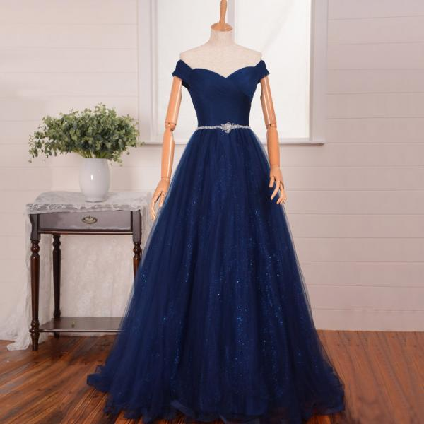 A-Line Prom Dresses,Off Shoulder Prom Dress,Evening Dress